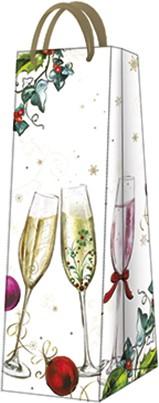Пакет подарочный бумажный Paw Брызги шампанского 12x37x10см AGB024204