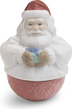 Шкатулка NAO Санта Клаус (Deco Santa), 13x10см, фарфор 02001601