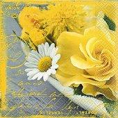 Салфетки для декупажа Цветы лета, 33x33см, 3 слоя, 20шт Paper+Design 21684