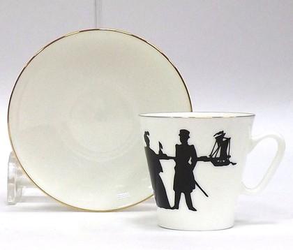 Чашка с блюдцем Прогулка, ф. Чёрный кофе ИФЗ 81.14926.00.1