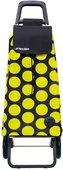 Сумка-тележка хозяйственная чёрно-жёлтая Rolser RG MOUNTAIN MOU083negro/lima