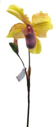 Цветок искусственный Башмачок желтый Top Art Studio SP-002-25S-1