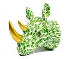 Фигура на стену Pomme-Pidou Носорог Лола, свежие папоротники 148-00224