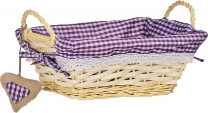 Корзинка для xлеба прямоугольная, фиолетовая клетка, 25x18см Premier Housewares 1901049