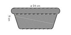 Корзинка овальная 24x16см Tescoma Flair 665036