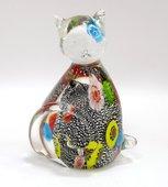 Фигурка стеклянная Top Art Studio Серебряный котёнок 7x11.5см ZB2640-AG