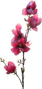 Цветок искусственный Ветка магнолии тёмно-розовая Top Art Studio HR0301-4