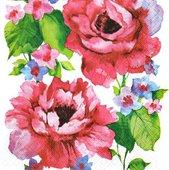 Салфетки Розы акварель, 33x33см, 20шт Paw SDL847000