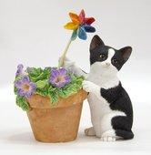 Статуэтка Котёнок с петунией (Kitten with Petunias), 9см Enesco CA03280