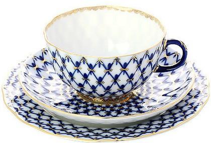 Набор чайный ИФЗ Тюльпан, Кобальтовая сетка, 3 предмета 81.10103.90.1