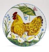Тарелка декоративная Курочка с цыплятами, ф. Эллипс ИФЗ 80.86065.00.1