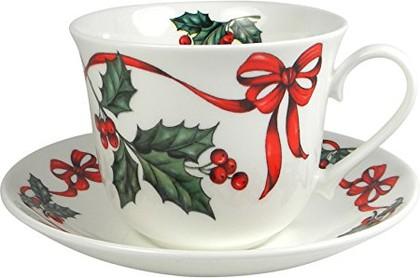Чайная пара для завтрака Рождественская лента 500мл Roy Kirkham XCHRR1100