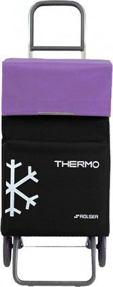Термосумка-тележка хозяйственная чёрная с фиолетовым Rolser RG THERMO TER037negro/malva