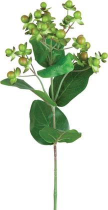 Цветок искусственный Гиперикум зелёный 23 ягоды, 72см Floralsilk P14216GR