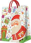 Пакет подарочный бумажный Paw Подарки санты 30х12х41 см AGB020402