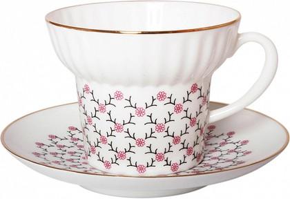 Чайная пара ИФЗ Волна, Розовая сетка 81.14621.00.1