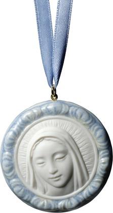 Медальон голубой Дева Мария (Protective Mary) 5x5см NAO 02001757