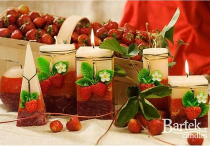 "Bartek Candles FRUITS RUSTIC Свеча ""Спелые фрукты"" - образ коллекции D, шар, диаметр 80мм, артикул 5907602647884"