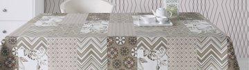 Скатерть текстильная 160х250см, бежевый Aitana Courbet COUR/160250/beige