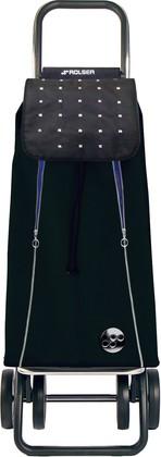 Сумка-тележка хозяйственная чёрная с синим Rolser LOGIC DOS+2 PAC096negro/azul