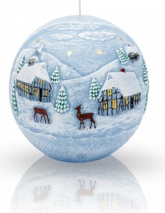 Свеча Зима, шар 10см Bartek Candles 5907602663549