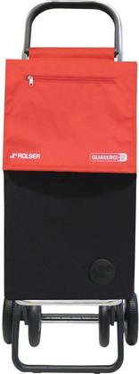 Сумка-тележка хозяйственная чёрно-красная Rolser QUATTRE.2 SBE001negro/rojo