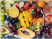Доска разделочная стеклянная Lesser & Pavey Экзотические фрукты, 40x30см LP93550