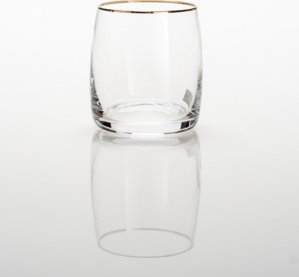 Стаканы для виски Crystalite Bohemia Идеал, 6шт., 290мл , золотая полоска 25015/290/20733K