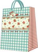 Пакет подарочный бумажный Paw Загородный 30x41x12см AGB017902