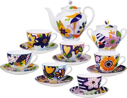 Сервиз чайный ИФЗ Весенняя-2, Летний букет, 14 предметов 81.25987.00.1