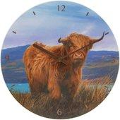 Часы настенные Lesser & Pavey Шотландский бык d30см LP44741