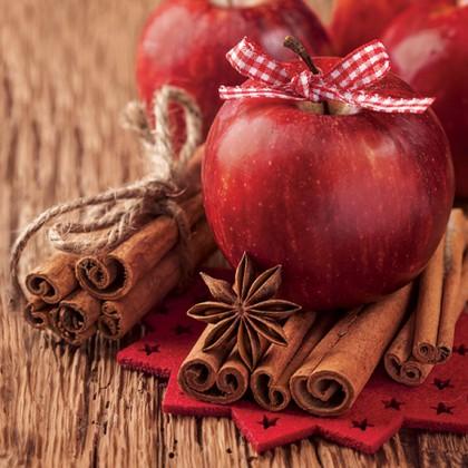 Салфетки для декупажа Корица и яблоко 33x33см, 3 слоя, 20шт Paw SDL073200