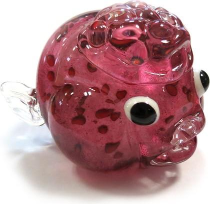 Фигурка стеклянная Top Art Studio Розовая рыбка, 13x8см ZB2187-TA