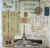 Салфетки для декупажа Виль-де-Париж, 33x33см, 3 слоя, 20шт Paper+Design LN0828