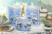 Свеча Зима, овал 10x14см Bartek Candles 5907602689839