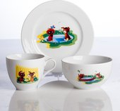 Набор детской посуды Porcelaine Czech Gold Hands Мультики, Котёнок, 3пр. DSRITA23/3