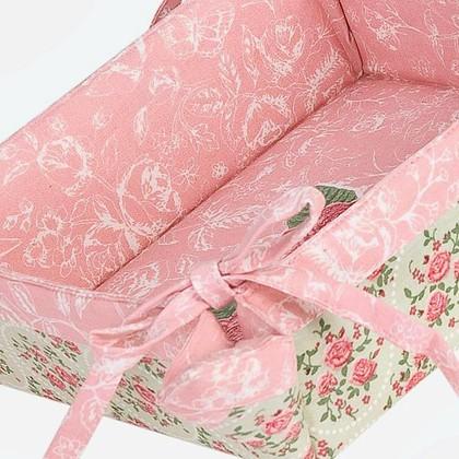 "Clayre & Eef SWEET ROSES Корзина для хлеба ""Милые розы"" - фрагмент, 35х35см, артикул SR47"