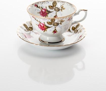 Чайная пара низкая Шиповник 220мл Porcelaine Czech Gold Hands IWB013S220Nх1