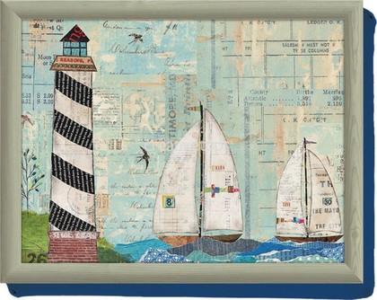 Поднос с подушкой С видом на море 44х34см Creative Tops 5163081