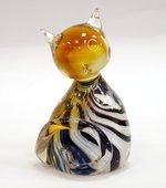 Фигурка стеклянная Цветной котёнок 5.5x10.5см Top Art Studio ZB1533-TA