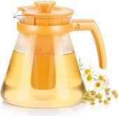 Чайник 1.25л, с ситечками для заваривания, жёлтый Tescoma TEO 646623.12