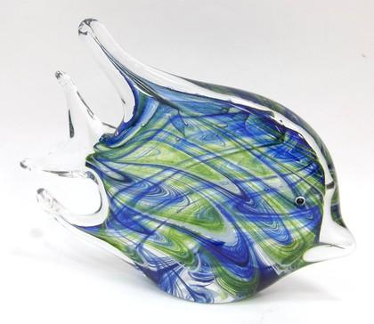 Фигурка Top Art Studio Рыбка бирюзовая 18см, стекло ZB2352-TA