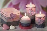 Свеча декоративная Bartek Candles Мерси, блок 7x9см 5901685026161