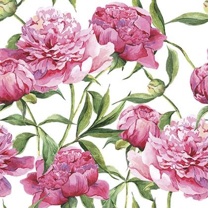 Салфетки Розовые пионы 3-сл., 20шт 33x33см Paw TL572000