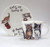 Чайная пара Кошки дома Roy Kirkham XCAT1110