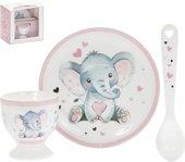 Набор детской посуды Lesser & Pavey Элли и птичка, для девочки, 3 предмета LP44690