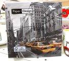 Салфетки для декупажа Проспект, 33x33см, 3 слоя, 20шт Paper+Design LN0595
