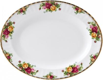 Блюдо овальное Розы Старой Англии, 38 см Royal Albert IOLCOR00108