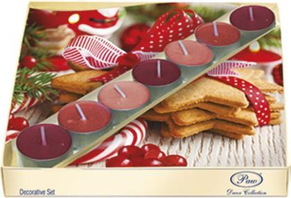 Набор 20 салфеток, 7 чайныйх свечей Новогодние сладости Paw SSC016002