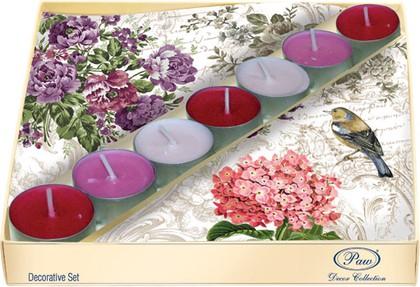 Набор 20 салфеток, 7 чайныйх свечей Очаровательный сад Paw SSC021402